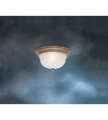Kichler Lighting Royal Jubilee 1 Light Flush Mount in Olde Brick 8847OB
