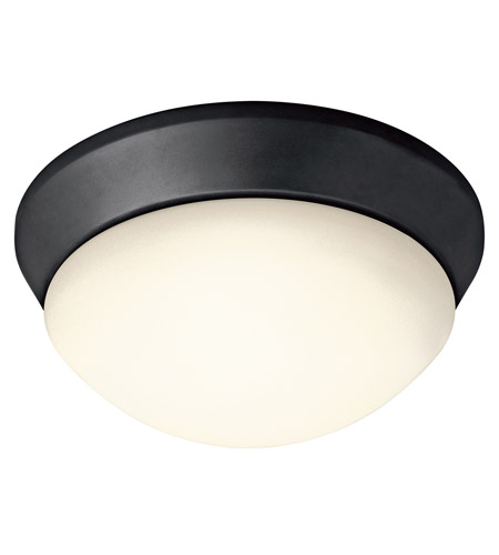 Kichler Lighting Signature 1 Light Flush Mount in Black (Painted) 8880BK
