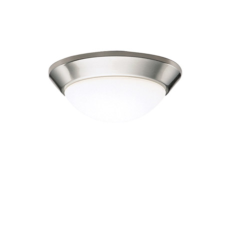 Kichler 8880NIFL Signature 1 Light 10 inch Brushed Nickel Flush Mount Ceiling Light in Fluorescent photo