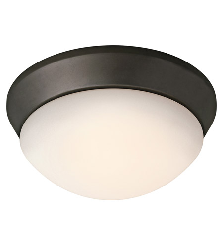 Kichler Lighting Signature 1 Light Fluorescent Flush Mount in Olde Bronze 8880OZFL photo