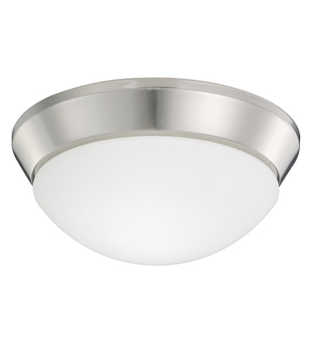 Kichler Lighting Ceiling Space 1 Light Flush Mount in Polished Nickel 8880PN