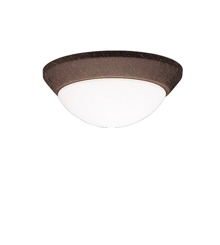 Kichler Lighting Ceiling Space 1 Light Flush Mount in Tannery Bronze 8880TZ