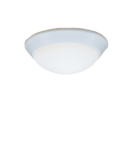 Kichler 8880WH Ceiling Space 1 Light 10 inch White Flush Mount Ceiling Light in Standard photo