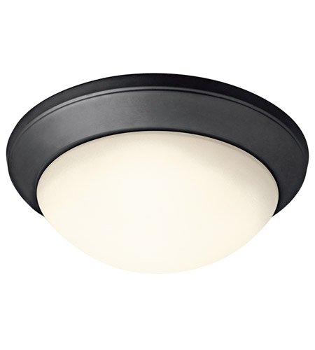 Kichler Lighting Signature 1 Light Flush Mount in Black 8881BK