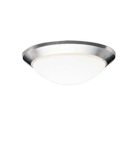 Kichler 8881NI Ceiling Space 1 Light 14 inch Brushed Nickel Flush Mount Ceiling Light in Standard photo