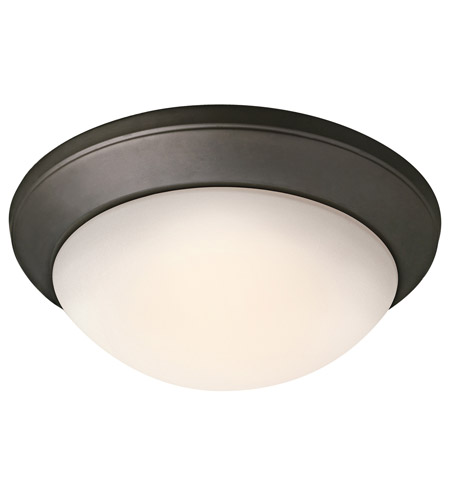 Kichler Lighting Signature 2 Light Fluorescent Flush Mount in Olde Bronze 8881OZFL photo
