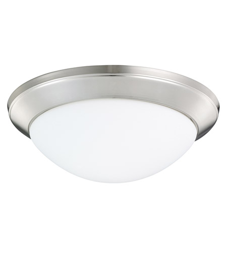 Kichler Lighting Ceiling Space 1 Light Flush Mount in Polished Nickel 8881PN
