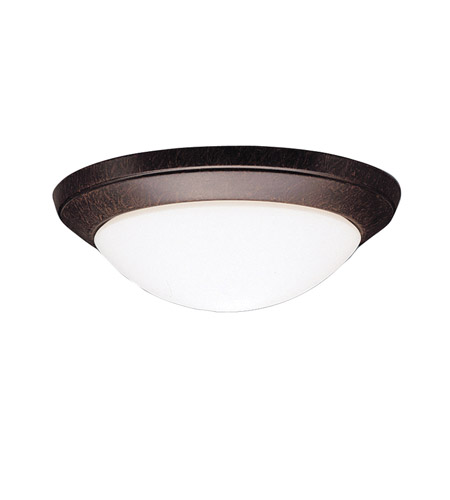 Kichler Lighting Ceiling Space 1 Light Flush Mount in Tannery Bronze 8881TZ