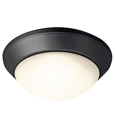 Kichler Lighting Signature 2 Light Flush Mount in Black 8882BK photo