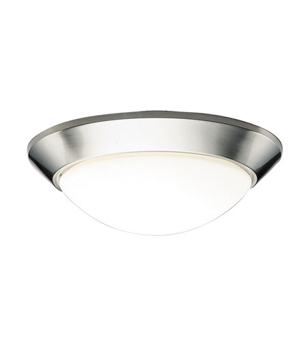 Kichler Lighting Signature 3 Light Fluorescent Flush Mount in Brushed Nickel 8882NIFL