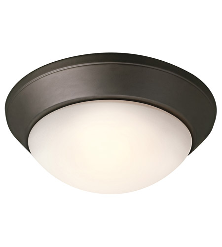 Kichler Lighting Signature 3 Light Fluorescent Flush Mount in Olde Bronze 8882OZFL
