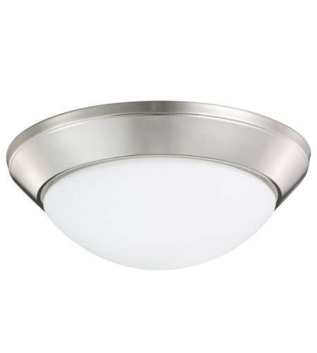 Kichler Lighting Ceiling Space 2 Light Flush Mount in Polished Nickel 8882PN photo