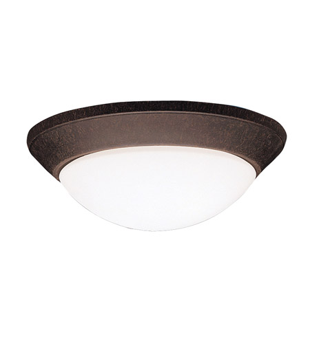 Kichler Lighting Ceiling Space 2 Light Flush Mount in Tannery Bronze 8882TZ