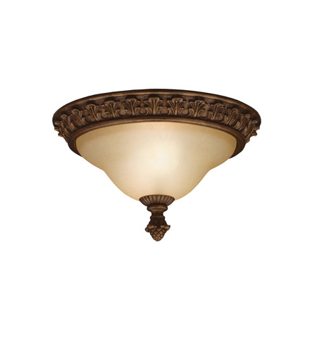 Kichler Lighting Cheswick 2 Light Flush Mount in Parisian Bronze 8897PRZ