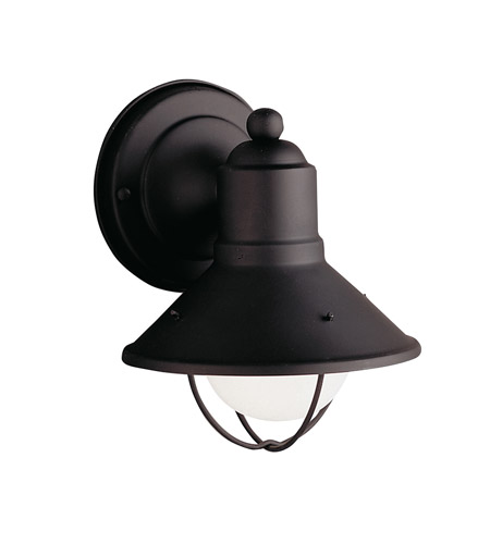 Kichler Lighting Seaside 1 Light Outdoor Wall Lantern in Black (Painted) 9021BK