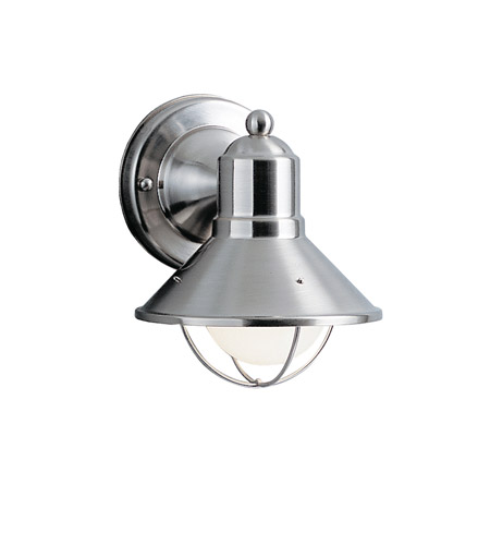 Kichler Lighting Seaside 1 Light Outdoor Wall Lantern in Brushed Nickel 9021NI photo