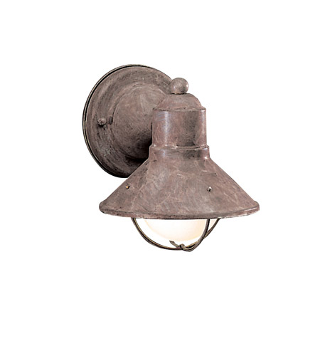 Kichler Lighting Seaside 1 Light Outdoor Wall Lantern in Olde Brick 9021OB