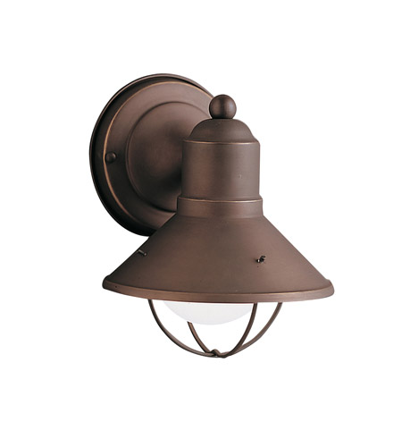 Kichler 9021OZ Seaside 1 Light 8 inch Olde Bronze Outdoor Wall Sconce, Small photo