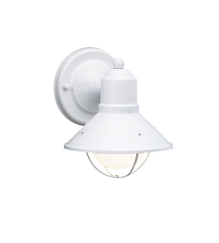 Kichler Lighting Seaside 1 Light Outdoor Wall Lantern in White 9021WH