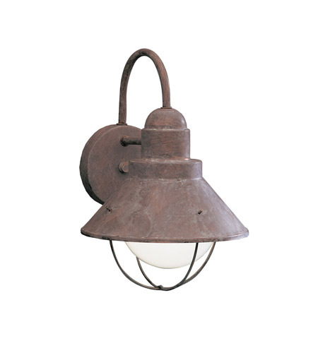 Kichler Lighting Seaside 1 Light Outdoor Wall Lantern in Olde Brick 9022OB photo