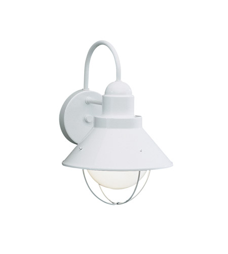 Kichler Lighting Seaside 1 Light Outdoor Wall Lantern in White 9022WH