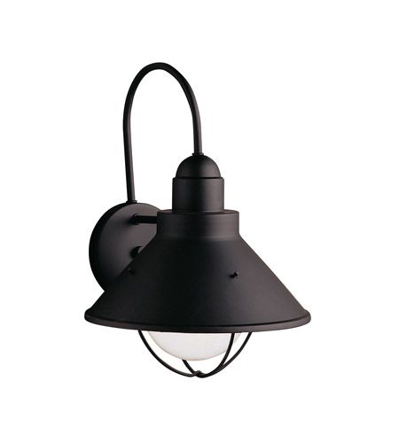 Kichler Lighting Seaside 1 Light Outdoor Wall Lantern in Black 9023BK photo