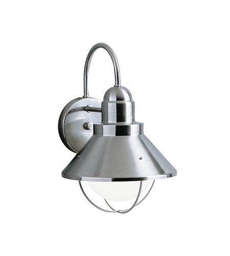 Kichler Lighting Seaside 1 Light Outdoor Wall Lantern in Brushed Nickel 9023NI photo