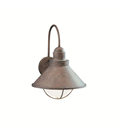 Kichler Lighting Seaside 1 Light Outdoor Wall Lantern in Olde Brick 9023OB