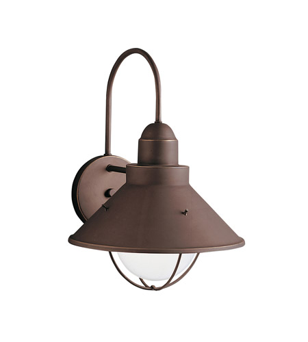 Kichler Lighting Seaside 1 Light Outdoor Wall Lantern in Olde Bronze 9023OZ