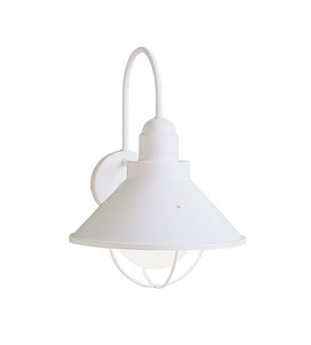 Kichler Lighting Seaside 1 Light Outdoor Wall Lantern in White 9023WH