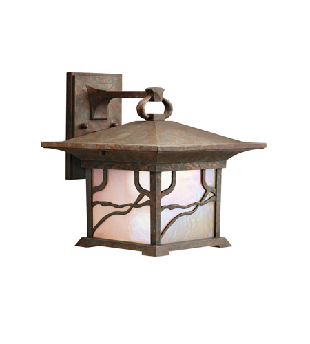 Kichler Lighting Morris 1 Light Outdoor Wall Lantern in Distressed Copper 9026DCO photo