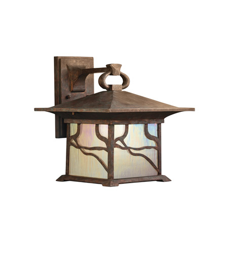 Kichler Lighting Morris 1 Light Outdoor Wall Lantern in Distressed Copper 9027DCO