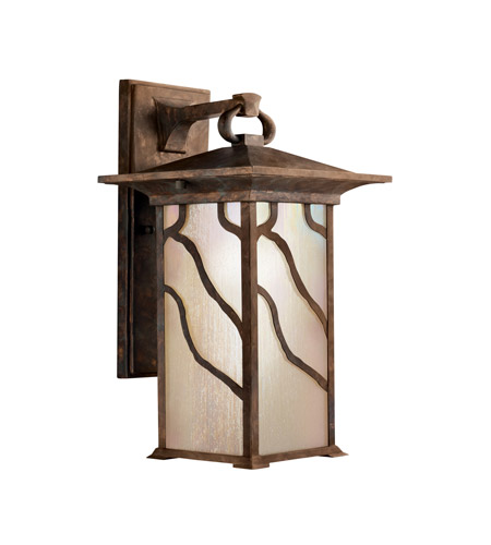 Kichler 9031DCO Morris 1 Light 15 inch Distressed Copper Outdoor Wall Lantern photo