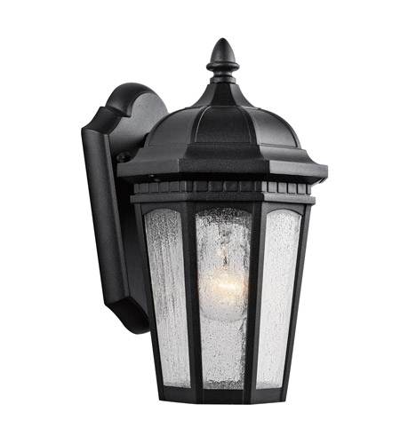 Kichler Lighting Courtyard 1 Light Small Outdoor Wall Lantern in Textured Black 9032BKT photo