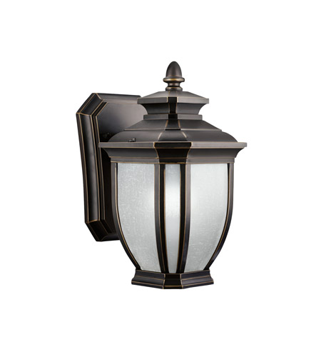 Kichler 9039RZ Salisbury 1 Light 10 inch Rubbed Bronze Outdoor Wall Lantern photo