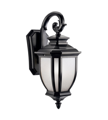 Kichler Lighting Salisbury 1 Light Outdoor Wall Lantern in Black (Painted) 9040BK