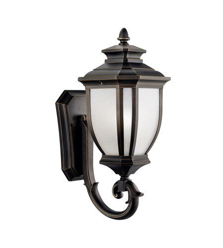 Kichler 9041RZ Salisbury 1 Light 19 inch Rubbed Bronze Outdoor Wall Lantern photo