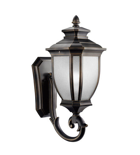 Kichler Lighting Salisbury 1 Light Outdoor Wall Lantern in Rubbed Bronze 9042RZ