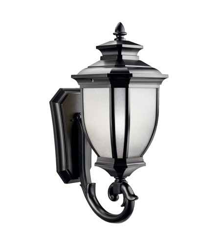 Kichler Lighting Salisbury 1 Light Outdoor Wall Lantern in Black (Painted) 9043BK