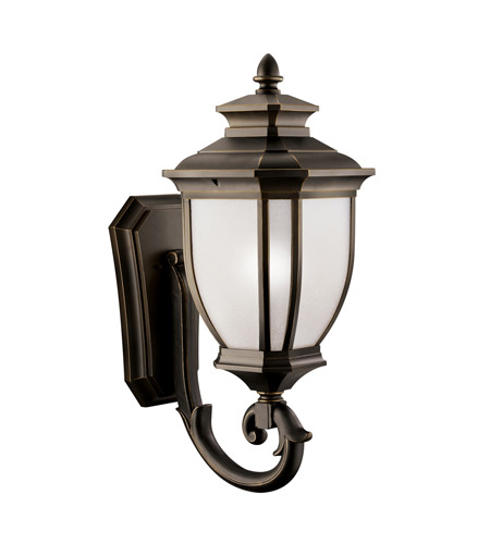 Kichler Lighting Salisbury 1 Light Outdoor Wall Lantern in Rubbed Bronze 9043RZ photo