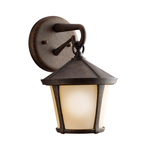 Kichler Lighting Melbern 1 Light Outdoor Wall Lantern in Aged Bronze 9051AGZ