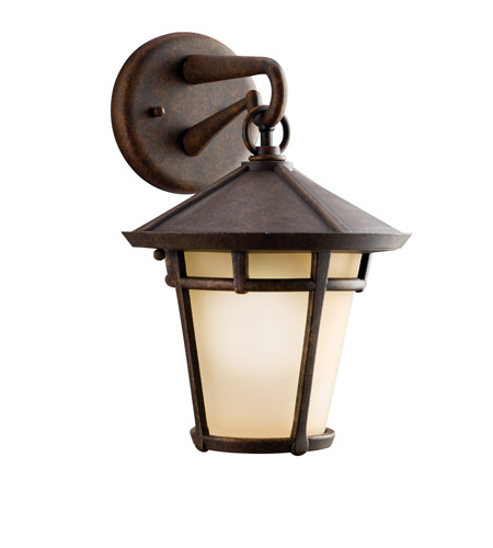 Kichler Lighting Melbern 1 Light Outdoor Wall Lantern in Aged Bronze 9052AGZ photo