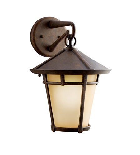 Kichler Lighting Melbern 1 Light Outdoor Wall Lantern in Aged Bronze 9053AGZ photo