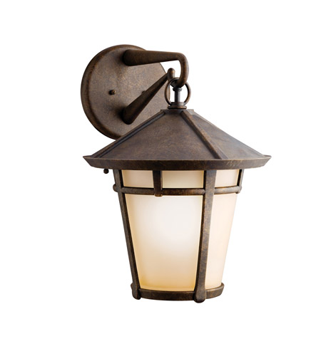Kichler Lighting Melbern 1 Light Outdoor Wall Lantern in Aged Bronze 9054AGZ