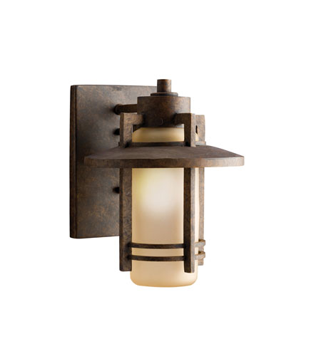 Kichler Lighting Creston 1 Light Outdoor Wall Lantern in Aged Bronze 9057AGZ