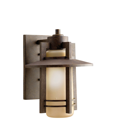 Kichler Lighting Creston 1 Light Outdoor Wall Lantern in Aged Bronze 9058AGZ photo