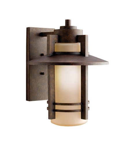 Kichler Lighting Creston 1 Light Outdoor Wall Lantern in Aged Bronze 9059AGZ