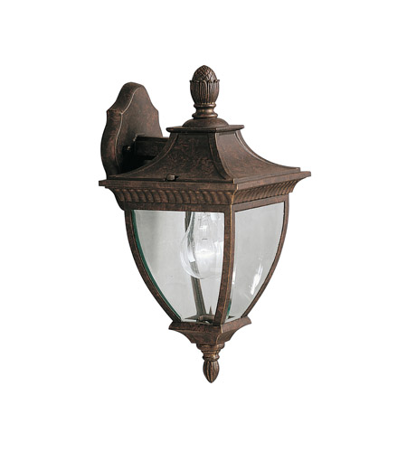 Kichler Lighting Amesbury 1 Light Outdoor Wall Lantern in Tannery Bronze w/ Gold Accent 9061TZG photo