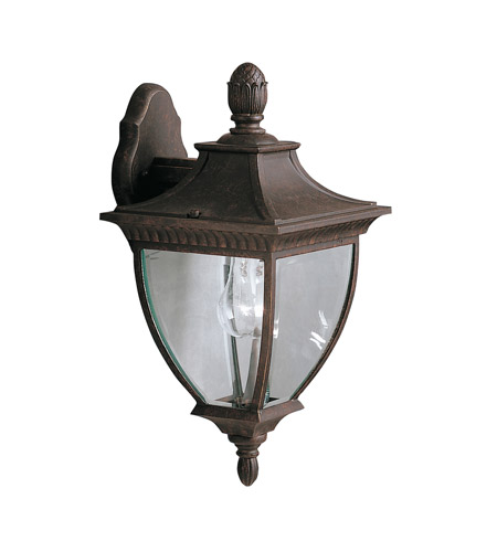 Kichler Lighting Amesbury 1 Light Outdoor Wall Lantern in Tannery Bronze w/ Gold Accent 9062TZG