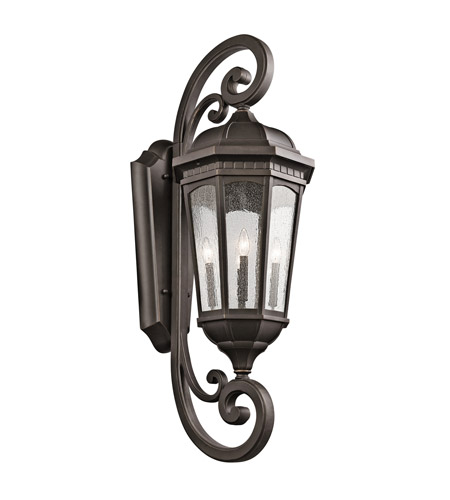 Kichler 9081RZ Courtyard 4 Light 47 inch Rubbed Bronze Outdoor Wall - Xlarge photo